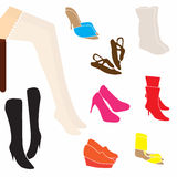 Stockings shoes. Royalty Free Stock Photo