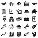 Stockjobber icons set, simple style. Stockjobber icons set. Simple set of 25 stockjobber vector icons for web isolated on white background Stock Photos