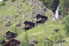 Stockmühlen-Mühlen in Apriach, Österreich Lizenzfreies Stockfoto