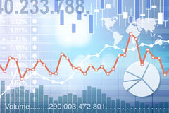 Stockmarket charts Stock Photography