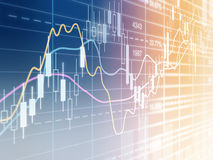 Stockmarket charts Stock Images