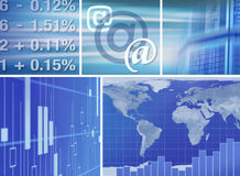 Stockmarket online Royalty Free Stock Image