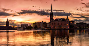 Stockolm Old Town Skyline Stock Image