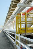 Stockphoto of chemical pipes. Petrochemical pipes royalty free stock photos