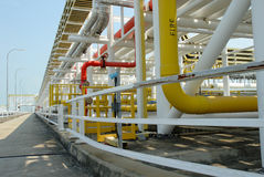 Stockphoto of petrochemical pipes. Lines of petrochemical pipes royalty free stock photo