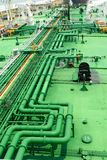 Stockphoto van petrochemische pijpen stock afbeeldingen