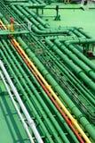 Stockphoto van petrochemische pijpen royalty-vrije stock fotografie