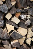 Stockpile of chopped wood Stock Photos