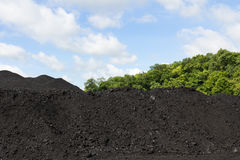 Stockpile of coal Royalty Free Stock Photos