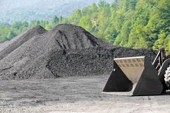 Stockpile of Coal Stock Image