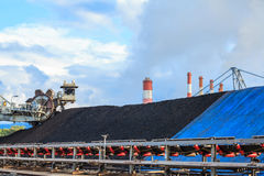 Stockpile of Coal Royalty Free Stock Images