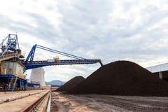 Stockpile of Coal Stock Image