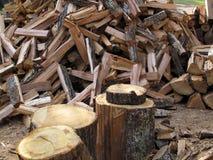 A Stockpile of Fresh Cut Firewood. A pile of fresh cut firewood Stock Photos