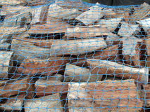 A Stockpile of Fresh Cut Firewood Royalty Free Stock Images