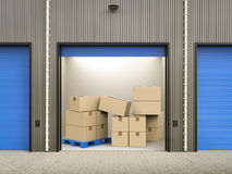Stockpile in warehouse Royalty Free Stock Image
