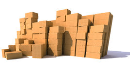 Stockpiling cartons Royalty Free Stock Photography