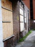 Stockport op stedelijk ruimteonkruid wordt ingescheept dat Royalty-vrije Stock Foto's