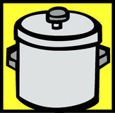 stockpot vector illustration Royalty Free Stock Photos