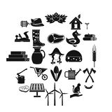 Stockroom icons set, simple style. Stockroom icons set. Simple set of 25 stockroom vector icons for web isolated on white background Royalty Free Stock Photo