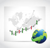 Stocks business graphs. forex. Royalty Free Stock Image