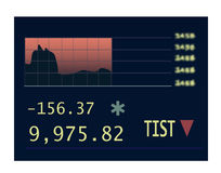 Stocks chart at the stock exchange Stock Photo