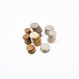 Stocks of coins Royalty Free Stock Images