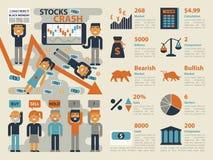 Stocks Crash Stock Photos