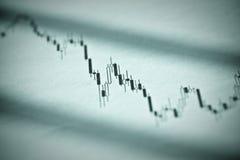 Stocks Decline. A declining candlestick stock chart stock image