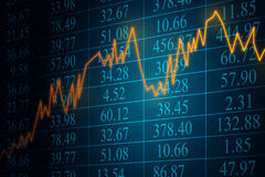Stocks. Display shows developments of stocks Stock Illustration