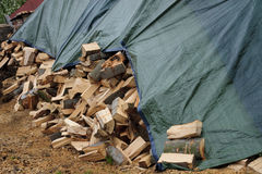 Stocks firewood ready for winter Royalty Free Stock Images