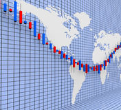 Stocks Graph Shows World Wide And Finance Royalty Free Stock Image