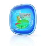 Stocks icon 3d Stock Image
