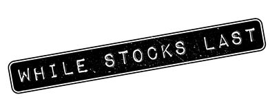 While Stocks Last rubber stamp Royalty Free Stock Photography