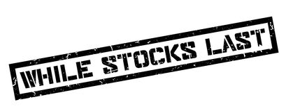 While Stocks Last rubber stamp Royalty Free Stock Photo