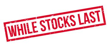While Stocks Last rubber stamp Royalty Free Stock Photos