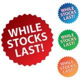 While stocks last Royalty Free Stock Photos