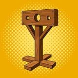 Stocks medieval instrument torture pop art vector Royalty Free Stock Photos