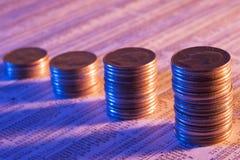 Stocks montant Images libres de droits