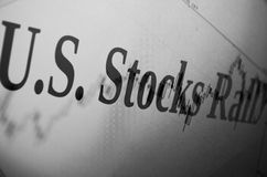 Stocks rally Royalty Free Stock Photos