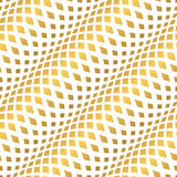 Stocks tamplate seamless pattern. Golden waves seamless pattern. Gold glitter and white template. Abstract foil texture. Retro fashion. 3D illusion. Luxury Royalty Free Stock Images