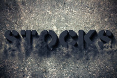 Stocks vanishing Royalty Free Stock Photography