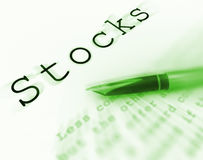 Stocks Word Displays Investing In Company And Shares Royalty Free Stock Photo