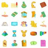 Stocktaking icons set, cartoon style. Stocktaking icons set. Cartoon set of 25 stocktaking icons for web isolated on white background Royalty Free Stock Images