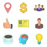 Stocktaking icons set, cartoon style. Stocktaking icons set. Cartoon set of 9 stocktaking vector icons for web isolated on white background Royalty Free Stock Image