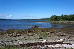 Stockton Springs, Maine Coastline Royalty Free Stock Photos