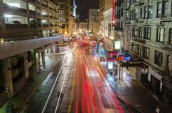 Stocktonstraat, San Francisco Stock Afbeeldingen