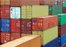 stockyard грузового контейнера Стоковые Фотографии RF