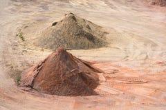 Stockyard piaski, otoczaki i agregaty, zbliżamy Le Havre, Francja Obraz Stock