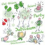 Stockzahl Geburtstag und Jahrestag Lizenzfreies Stockfoto