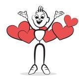 Stockzahl Reihengefühle - Datierung stock abbildung